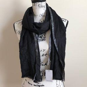 NWT Calvin Klein Black Silver Trim Scarf Wrap